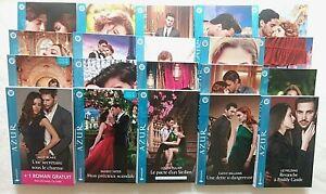 Lot de 20 livres romans amour passion collection azur éditions harlequin