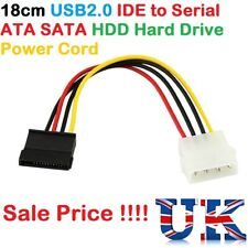 1pcs 18cm USB2.0 IDE to Serial ATA SATA HDD Hard Drive Power Adapter Cable Cord