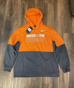 NWT Nike Tennessee Volunteers Dri Fit Hoodie Orange Black On Field Mens Size 2XL