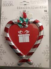 NEW 2019 Ornament Frame Studio Decor Candy Cane Heart
