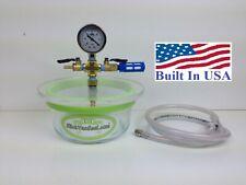 2 QT - Pyrex Glass SlickVacSeal Vacuum Chamber.