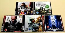 5 PC juegos colección Hitman Tom Clancy Ghost Recon Dark Messiah Deus ex Shooter