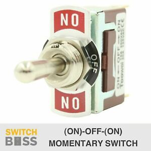 (ON)-OFF-(ON) MOMENTARY Toggle Switch Heavy Duty 3 Way 12V 2 6.3mm Terminal Car