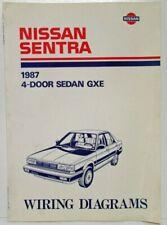 1987 nissan sentra 4-door sedan gxe electrical wiring diagram manual