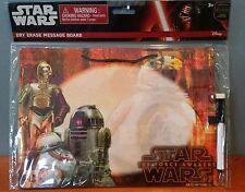 Star Wars Bb-8, C-3Po, R2-D2 Hangable Dry Erase Board Hologram New Free Shipping