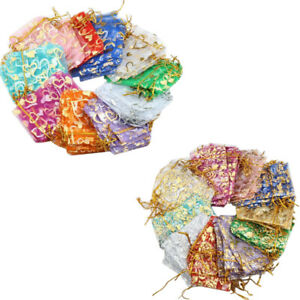 Organza Gift Bags Pouch Small Medium Large Jewellery Wedding Favour Bag
