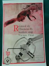 Victor Traps,Trapping, Reynard Sly Fox,Oneida,N.Y., Advertising Poster