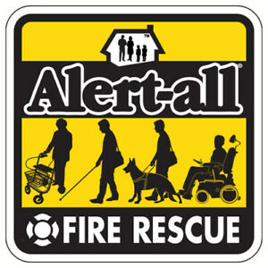 2 Pk Alert-All Fire Rescue Window Clings -Elderly-Handicapped-Special Needs 600B