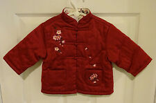 Gymboree Baby Girl 12-18 Months Cherry Flower Blossom Quilted Jacket Coat Asian