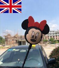 Cute Black Mickey Minnie Antenna Ball Car Aerial Ball Antenna Topper Decor Ball