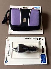 Lot 2 accessoires neufs Nintendo Ds: adaptateur voiture / sacoche de transport