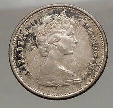 1965 CANADA United Kingdom Queen Elizabeth II Silver 25 Cent Coin CARIBOU i57125
