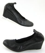 85f435a2386 Vaneli  Yacinthe  Black Leather Snake Print Wedge Pump Size 6.5M