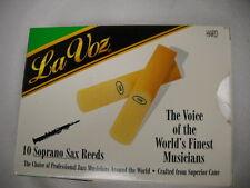 La Voz Hard Soprano Saxophone Reeds, pack of 7