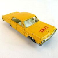 1960's Chevrolet Impala Taxi Lesney #20 Matchbox VTG Toy Car