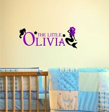 Personalized Custom Name Little Mermaid Wall Decal Vinyl Sticker Decal
