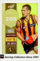 2013 Select AFL Champions Milestone Holofoil Card MG37 Luke Hodge (Hawthorn)