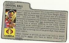 1987 GI Joe crystal Ball File Card