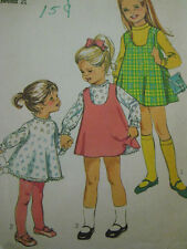 Vintage 7788 Simplicity Child Slip Dress & Jumper Sewing Pattern Toddler Sz 2