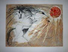 Jean-Marie Guiny Gravure Originale Signée Numérotée cheval voltige équitation