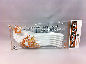 6x White Melamine Chinese Soup Spoons 6.1in RAMEN from JAPAN