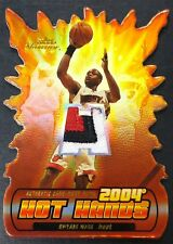 2004-05 Fleer Showcase Hot Hands Patches #DW Dwyane Wade PATCH /50 Damaged