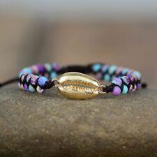 Women Puka Shell Charm Bracelets Gold Cowry Yoga Friendship Beach Jewelries Gift