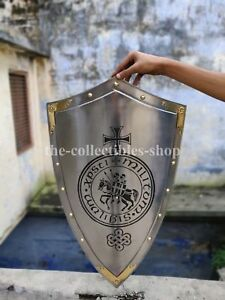 """Knight Shield Replica Medieval Reenactment & Reproduction 34"""" Armor Shield Gift"""