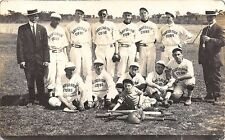 Muskogee OK Davidson Cubs Baseball Team in 1913 Equipment Uniforms RPPC Postcard