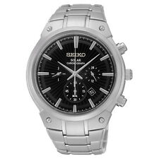 SEIKO Men's Solar Power Chronograph Watch SSC317 Retail $350 Brand New Warranty