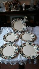 More details for royal cauldon victoria 5 x dinner plates with fluted edges. vintage 1920 - 1939.