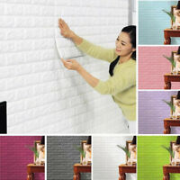 2018 PE Foam 3D Brick Wall Sticker Self-Adhesive DIY Wallpaper Panels Room Decal