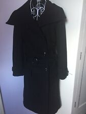 Women's ATMOSPHERE black winter trench style coat size 10. Wool blend.