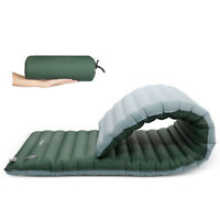 Inflatable Sleeping Pad Floatable Camping Mattress for Travel Backpacking Hiking