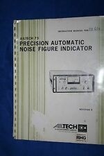 Ailtech 75 Automatic Noise Figure Indicator Instruction Manual WITH SCHEMATICS
