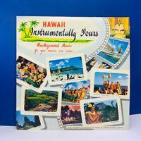 """Vinyl Record album LP sleeve case 12"""" vtg 33 Tiki bar Hawaii Instrumentally RED"""
