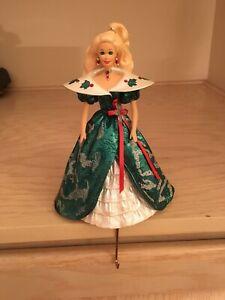 Hallmark Barbie Stocking Hanger Holiday Barbie 1996 Original Box Excellent Cond