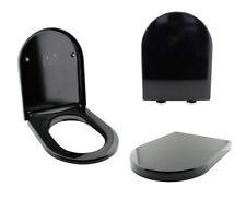 Accessori e tessuti nero per il bagno