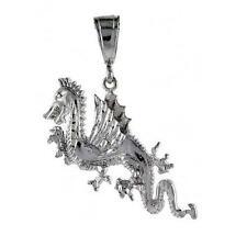 6.2 gram Sterling Silver Dragon Pendant