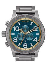 New Authentic NIXON Watch 51-30 GUNMETAL SPRUCE BRASS A083-2789 A0832789