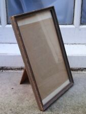 """ANTIQUE SHABBY CHIC 1920-30 WOOD PHOTO PICTURE FRAME 5 7/8"""" W X 9 3/8"""" D"""