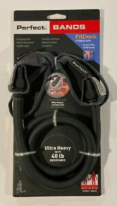 New! Perfect Fitness Attached Loop Band - Ultra Heavy (40 lbs) - Black