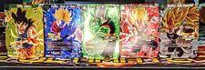 Dragon Ball Super Championship 2018 Card Collection 5 Cards Goku, Trunks, Vegeta