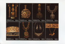 Azerbaijan 2017 MNH Artefacts Jewellery 8v M/S Art Design Cultures Stamps