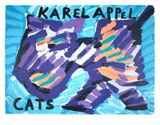KAREL APPEL Original Lithograph CATS 1978 CoBrA Avant Garde Movement