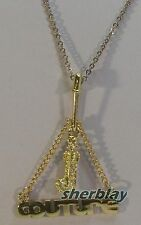 """JUICY COUTURE CHARM LINK Pendant NECKLACE Letter """"J"""" Name """"COUTURE"""" Held Pin"""