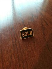 Realtor Sold Pin Gold And Black New In Plastic