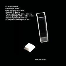 Azzota 10mm Standard IR Quartz Cuvettes - 3.5ml I104