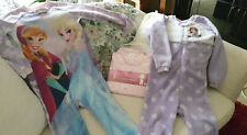 Girls winter pyjamas size 6 x 3 -including Princess Sophia and Frozen characters