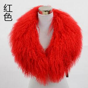 Fluffy Detachable Mongolian Lamb Fur Collar Real Fur scarfsheep Fur Collar shawl